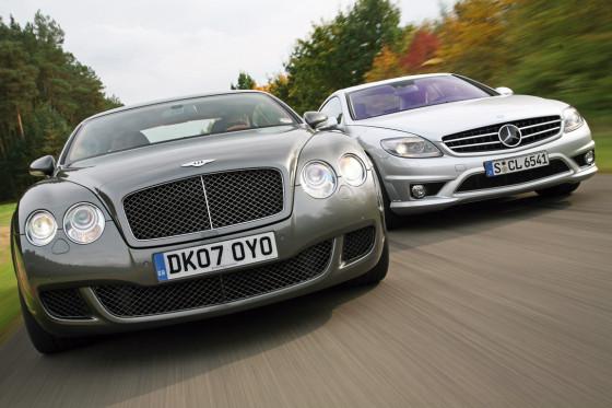 Bentley Continental GT Speed und Mercedes CL 65 AMG