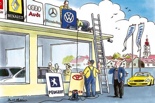 Einer für alle? Mehrere Marken unter einem Dach sind erlaubt, aber für viele Händler zu teuer.