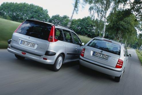Peugeot 206 SW gegen Skoda Fabia Combi