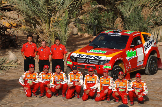 Die Teams: Mitsubishi Rallye Dakar 2008