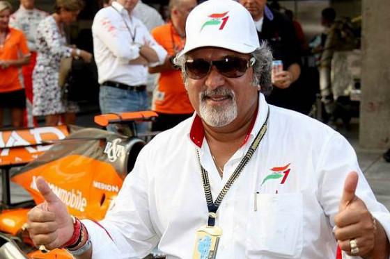 Teameigner Vijay Mallya ist zuversichtlich. Bis spätestens 2010 will das Team Podestplätze einfahren.