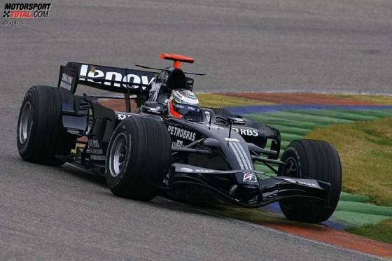 Der neue Williams-Toyota. Damit will Rosberg den Anschluß an Renault und BMW schaffen.