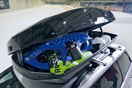 Winterausrüstung transportieren Dachbox Thule Motion XT