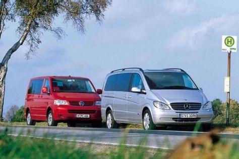 Mercedes Benz Viano Gegen Vw T5 Multivan Autobild De