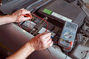 Autobatterie im Winter