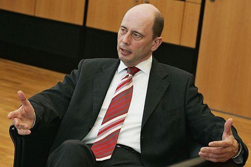 Bundesverkehrsminister Wolfgang Tiefensee
