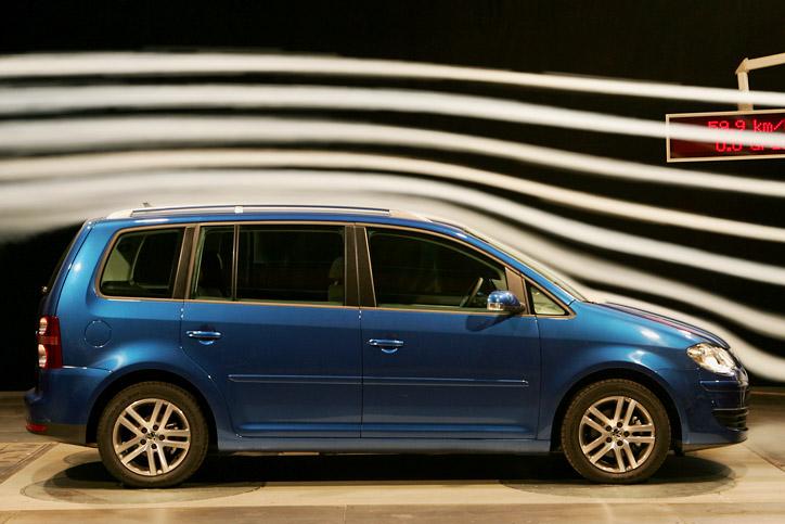 Volkswagen VW Touran 1.9 TDI Windkanal