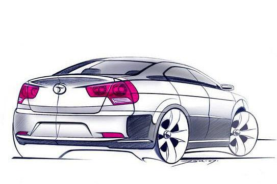 Abgezeichnet: Das Dongnan Concept gleicht den ersten Skizzen des neuen kompakten Seat-Stufenhecks
