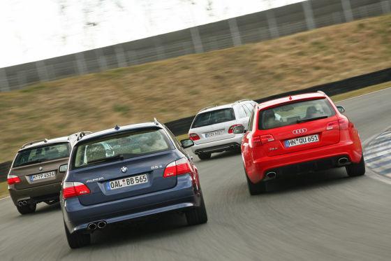 Audi RS 6 Avant Mercedes E 63 AMG T Alpina B5 S Touring BMW M5 Touring