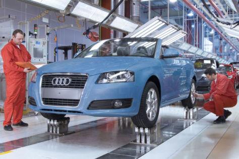 Audi A3 Cabriolet-Produktion in Ungarn