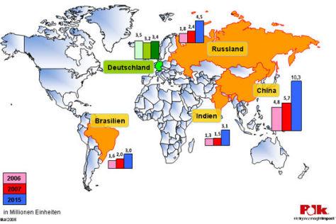 Polk Weltkarte zur Pkw-Zukassung