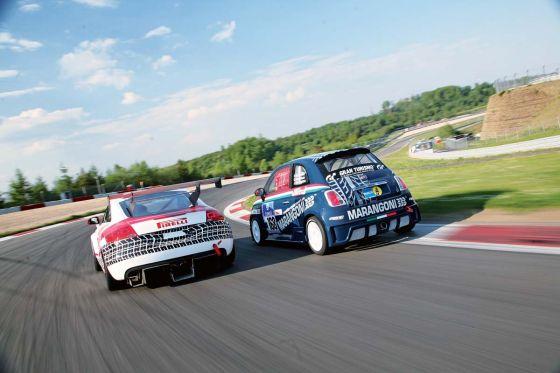 Engstler Fiat 500, van Ommen Audi TT, 24-Stunden-Rennen Nürburgring 2008