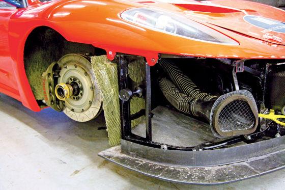 Ferrari F430 GT3 von Kessel Racing, Bremsanlage Vorderrad