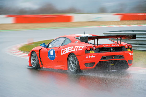 Ferrari F430 GT3 von Kessel Racing, Heckansicht