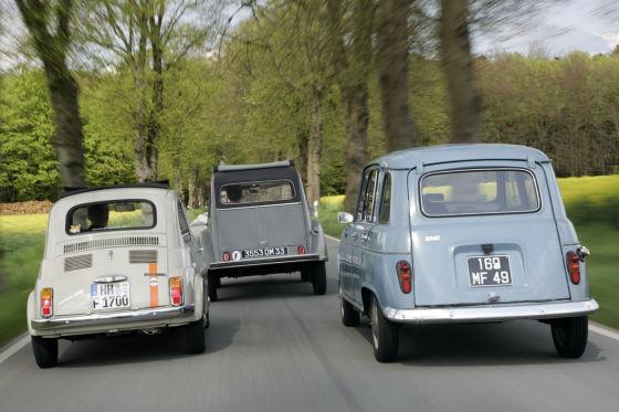 Fiat 500, Citroën 2CV, Renault R4