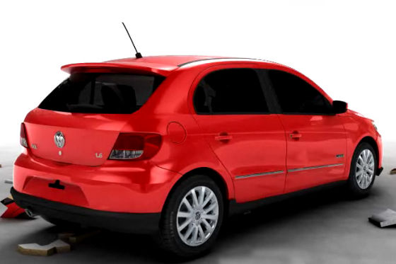 Hübsche Linie, und ein bisschen Scirocco ist auch dabei: der neue VW Gol für den brasilianischen Markt.
