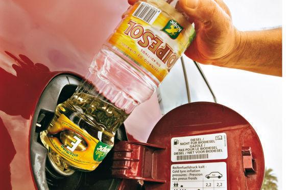 Tanken von Pflenzenöl