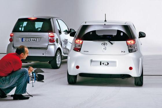 Toyota IQ und Smart fortwo