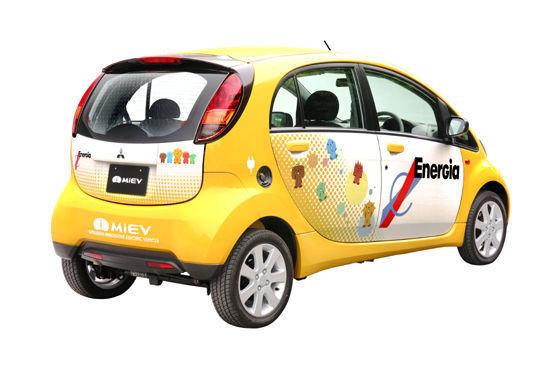 Im Heck sitzt der Elektromotor, die Lithium-Ionen-Batterien sind im Fahrzeugboden untergebracht.
