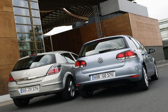 Opel Astra VW Golf