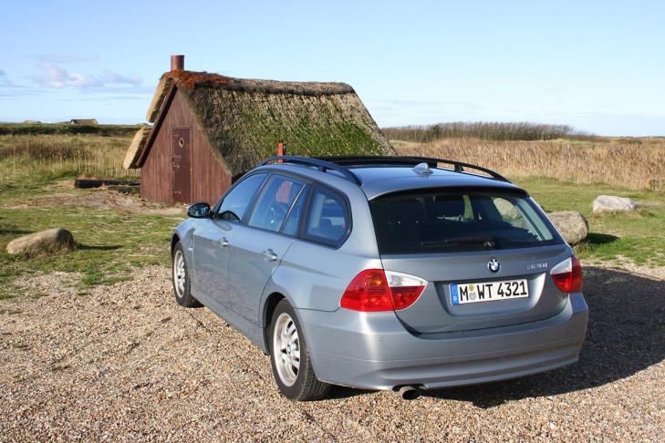 BMW 320i Touring Dänemark Hütte