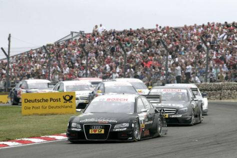 DTM 2008, Brands Hatch, Scheider Audi A4 vor di Resta Mercedes C-Klasse
