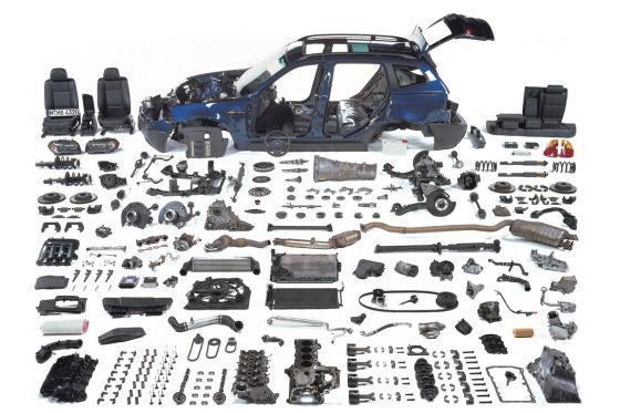 BMW X3 2.0d zerlegt Einzelteile