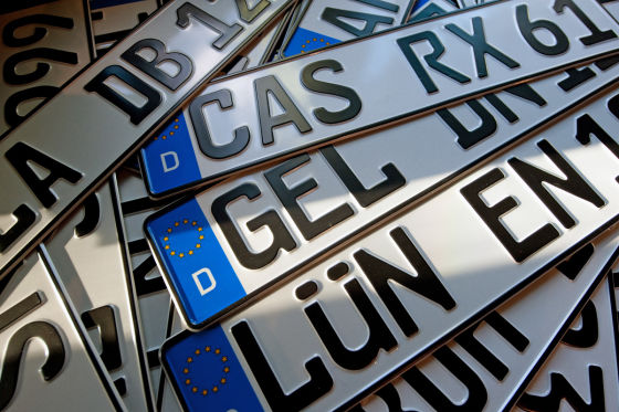 """Euro-Kennzeichen: mit Euro-Sternchen und einem """"D""""."""