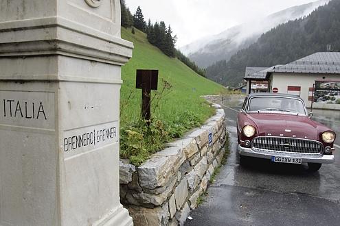 Freie Fahrt an der Grenze: In den 60ern standen hier die Goggomobile, Lloyd und Käfer Schlange.
