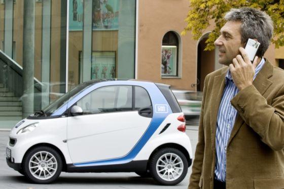 Nach dem car2go-Prinzip ist der nächste Leih-Smart nur ein paar Gehminuten entfernt.