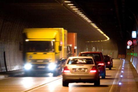Bis 5. Dezember 2008 gesperrt: der Grenztunnel zwischen Füssen/Bayern und Pinswang/Tirol.