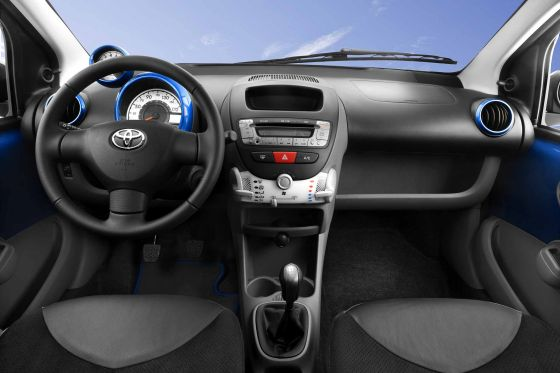 Toyota Aygo, Facelift 2009, Innenraum