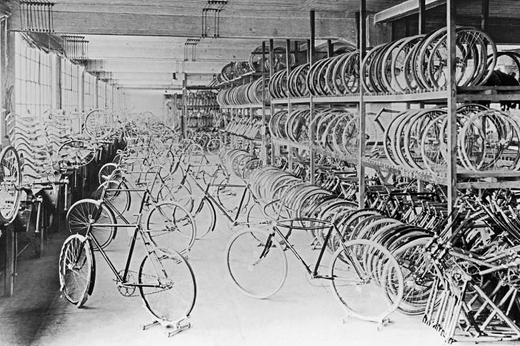 Fahrradproduktion 1912