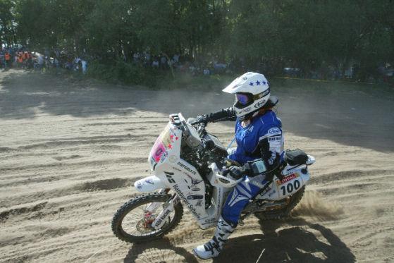 Rallye Dakar 2009 2. Tag Christina Meier Yamaha