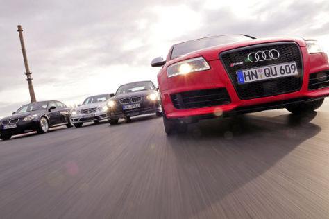Vier Sportliche Limousinen Im Test Alpina B5 S Audi Rs 6 Bmw M5