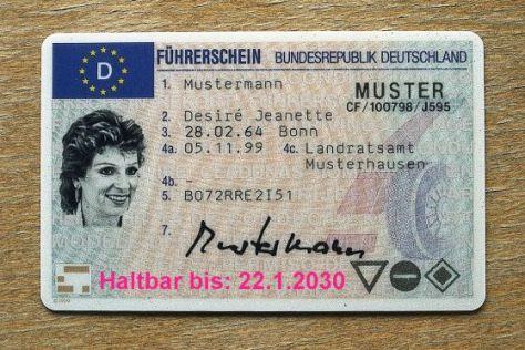 So könnte der Führerschein mit Verfallsdatum ab 2013 aussehen.