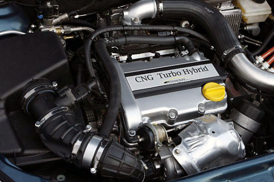Motor Opel Astra CNG mit Hybrid