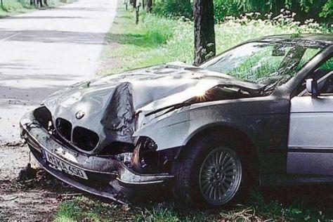 Unfall BMW 5er E39