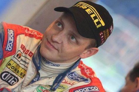 Mikko Hirvonen konnte am Sonntag wegen schlechter Sicht nicht mehr aufholen