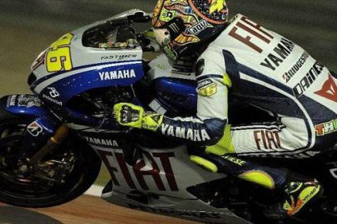 Valentino Rossi hat den Rückstand auf Casey Stoner in Katar verkürzt
