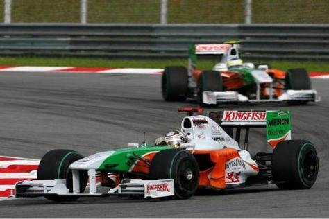 Noch verzichtet Force India auf den neuen Frontflügel und den Einsatz von KERS...