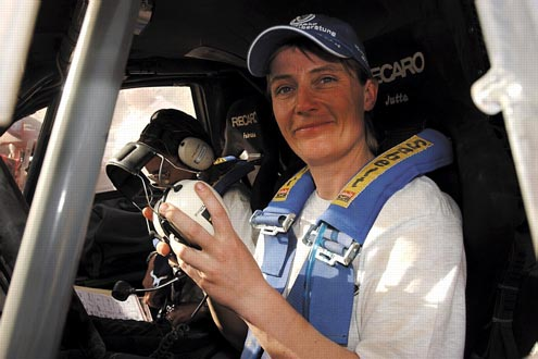 Die erfolgreichste Frau im Rallye-Sport: Jutta Kleinschmidt.