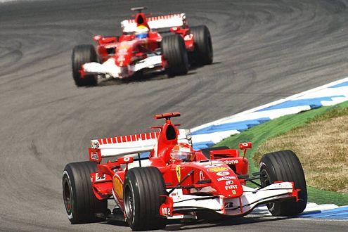 Schumacher vor Massa: Mit dem Doppelsieg am Hockenheimring zeigt Ferrari deutlich: Wir sind wieder da!