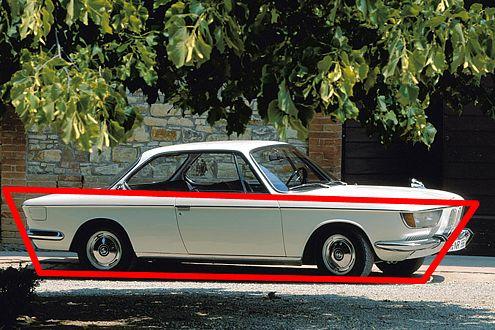 Aus seiner damals gehobenen Mittelklasse machte BMW auch gleich ein Coupé: den 2000 C/CS.