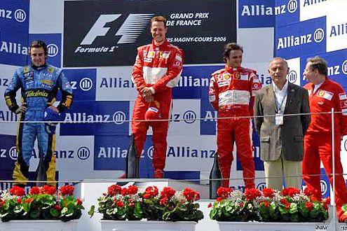Ferrari vor Renault. So wünscht es sich Michael Schumacher auch für den GP in  Budapest.