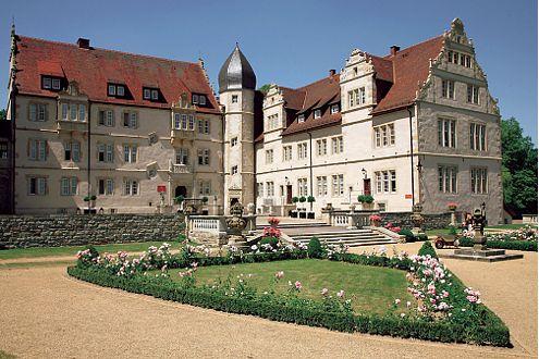Im Schloßhotel Münchhausen bei Hameln wohnte die französische WM-Mannschaft.