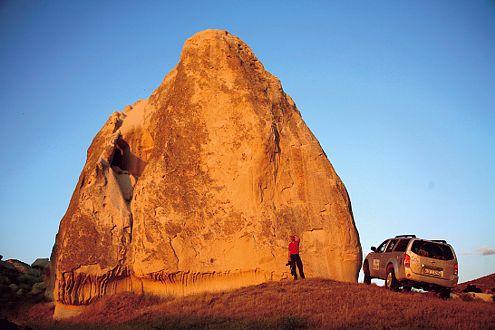 Die Tuffsteine bei Kayseri entstanden vor vielen tausend Jahren aus Lavaasche