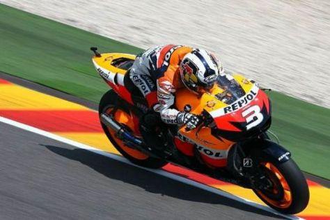 Dani Pedrosa weiß noch nicht, ob er morgen das Rennen durchhalten wird