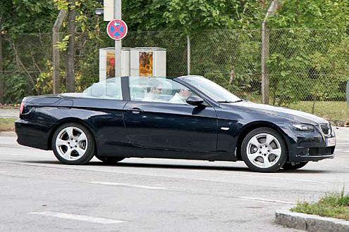 Erwischt! Das neue 3er Cabrio von BMW.