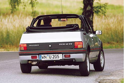Peugeot 205 CTI: viersitziges Bügelcabrio mit robustem Motor.